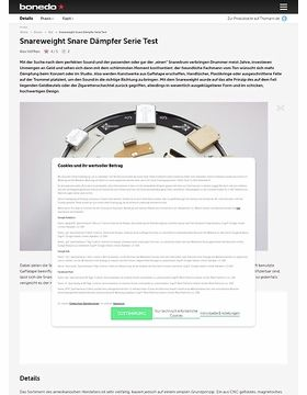 Snareweight Snare Dämpfer Serie Test