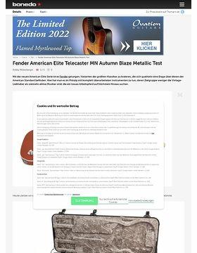 Fender American Elite Telecaster MN Autumn Blaze Metallic