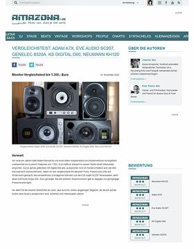 Vergleichstest: Adam A7X, Eve Audio SC207, Genelec 8320A, KS Digital D60, Neumann KH120