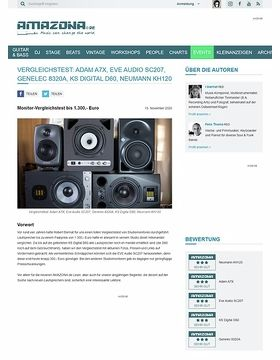 Vergleichstest: Adam A7X, Eve Audio SC207, Genelec 8320A, KS Digital D60, Neumann KH120