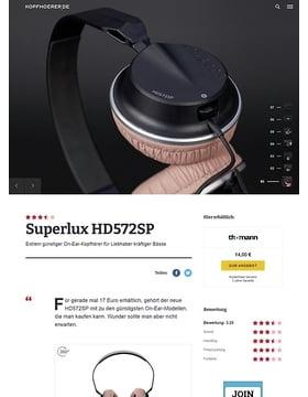 Superlux HD 572 SP Black