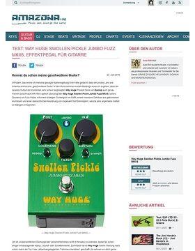Test: Way Huge Swollen Pickle Jumbo Fuzz MKIIS, Effektpedal für Gitarre