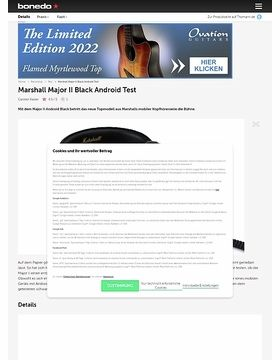 Marshall Major II Black Android
