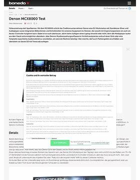 Denon MCX8000 Test