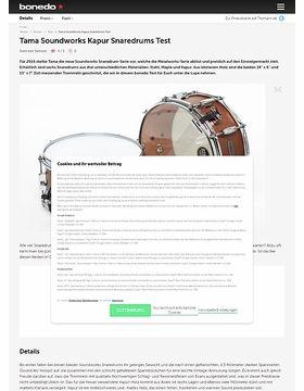 Tama Soundworks Kapur Snaredrums Test