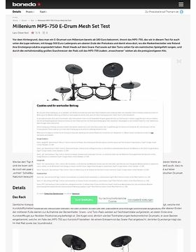 Millenium MPS-750 E-Drum Mesh Set