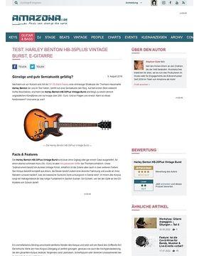 Test: Harley Benton HB-35Plus Vintage Burst, E-Gitarre