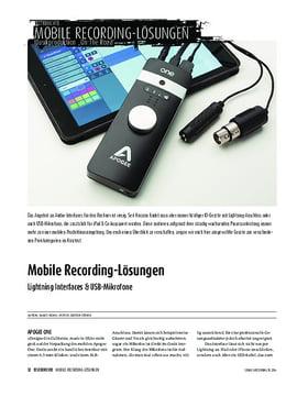 Lightning Interfaces & USB-Mikrofone