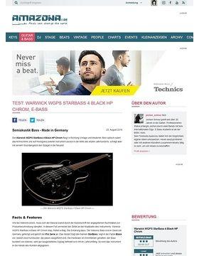 Test: Warwick WGPS StarBass 4 Black HP Chrom, E-Bass