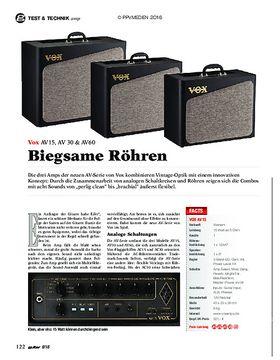 Vox AV15, AV30, AV60