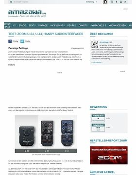 Test: Zoom U-24, U-44, Handy Audiointerfaces