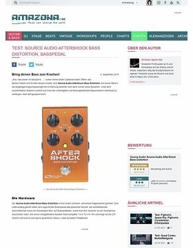 Test: Source Audio AfterShock Bass Distortion, Effektgerät für Bass
