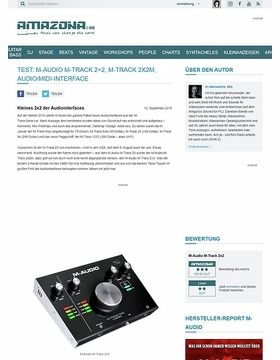 Test: M-Audio M-Track 2x2, M-Track 2x2M, Audio/Midi-Interface