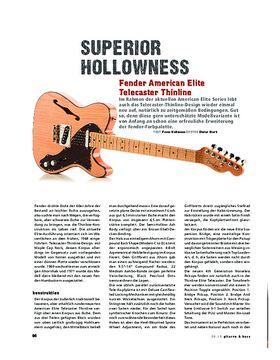 Fender American Elite Telecaster Thinline, E-Gitarre