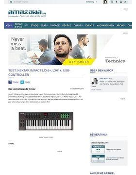 Test: Nektar Impact LX49+, LX61+, USB-Controller
