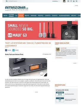 Test: LD Systems MEI 1000 G2, Funkstrecke im Liveeinsatz