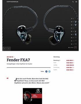 Fender FXA7 Pro Black IEM