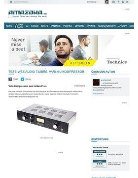 Test: Wes Audio Timbre, Vari Mu Kompressor