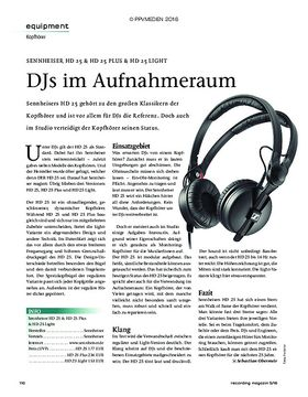 SENNHEISER HD 25 & HD 25 PLUS & HD 25 LIGHT