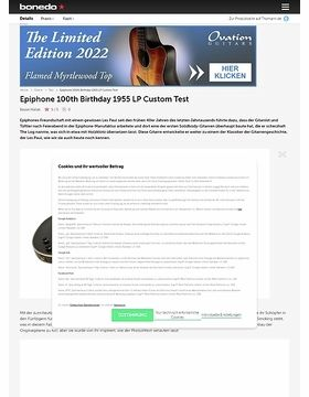 Epiphone 100th Birthday 1955 LP Custom