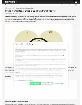 Evans `56 Calftone, Emad & EQ4 Bassdrum Felle