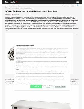 Höfner 60th Anniversary Ltd Edition Violin Bass