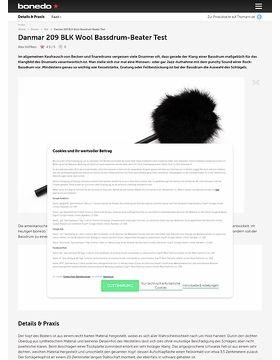 Danmar 209 BLK Wool Bassdrum-Beater