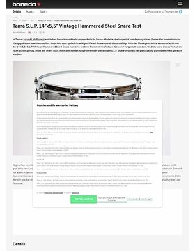 "Tama S.L.P. 14""x5,5"" Vintage Hammered Steel Snare"