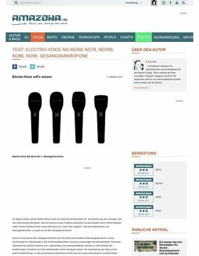 Test: Electro-Voice ND-Serie ND76, ND76S, ND86, ND96, Gesangsmikrofone