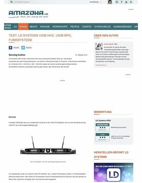 Test: LD Systems U508 HHC, U508 BPG, Funksysteme