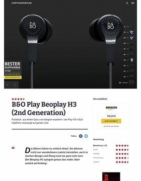 B&O Play H3 2nd Generation Black