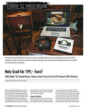 UAD Fender '55 Tweed Deluxe - Gitarren-Amp-Plug-in für die DSP-basierte UAD-Plattform
