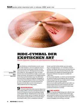 Paiste Artist Inspiration John JR Robinson 2002 Swish Ride