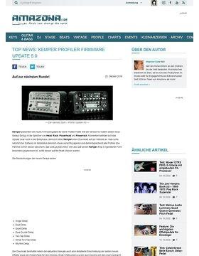 Top News: Kemper Profiler Firmware Update 5.0