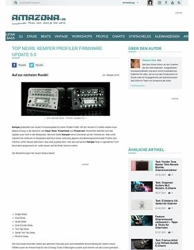 Top News: Kemper Profiler Firmware Update 5.0