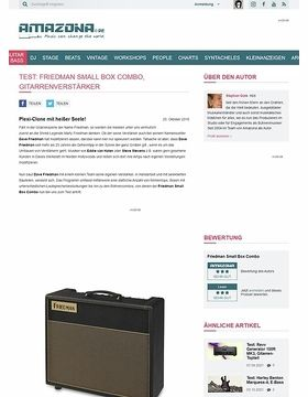 Test: Friedman Small Box Combo, Gitarrenverstärker
