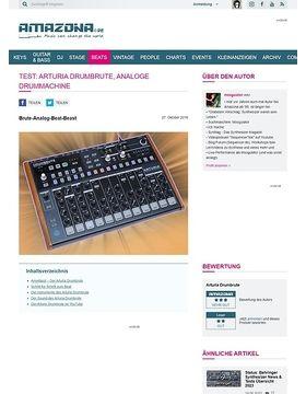 Test: Arturia DrumBrute, Analoge Drummachine