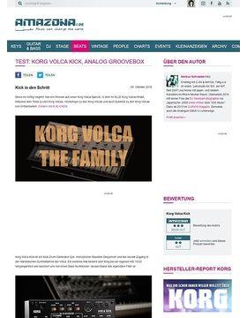 Test: Korg Volca Kick, Analog Groovebox