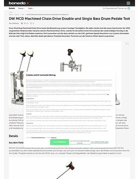 DW MCD Machined Chain Drive Double und Single Bass Drum Pedale