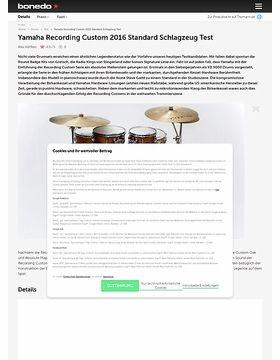 Yamaha Recording Custom 2016 Standard