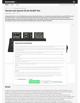 Mackie Axis System DC16 DL32R