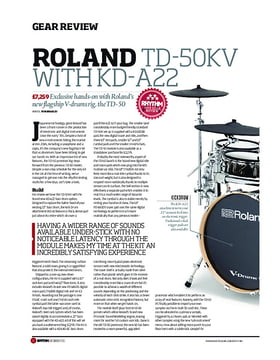 Roland TD-50KV with KD-A22