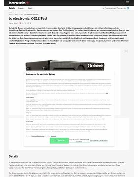 tc electronic K-212