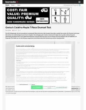 Gretsch Catalina Maple 7 Piece Drumset