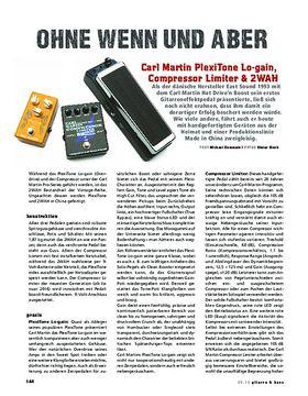Carl Martin PlexiTone Lo-gain, Compressor Limiter & 2WAH