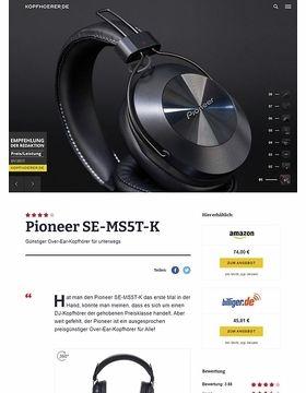 Pioneer SE-MS5T-K Black
