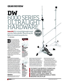 DW 6000 Series Ultralight Hardware