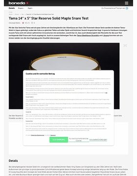 """Tama 14"""" x 5"""" Star Reserve Solid Maple Snare"""