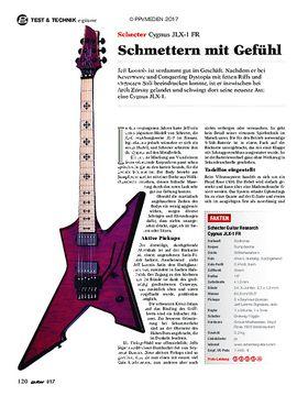 Schecter Cygnus JLX-1 FR