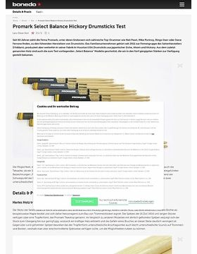 Promark Select Balance Hickory Drumsticks